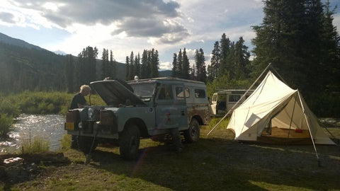 Land Rover and Ellis Canvas Tent