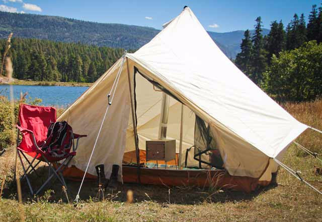 ... Canvas Torrent Tent lakeside- Ellis Canvas Tents ... & The Torrent Tent - Ellis Canvas Tents