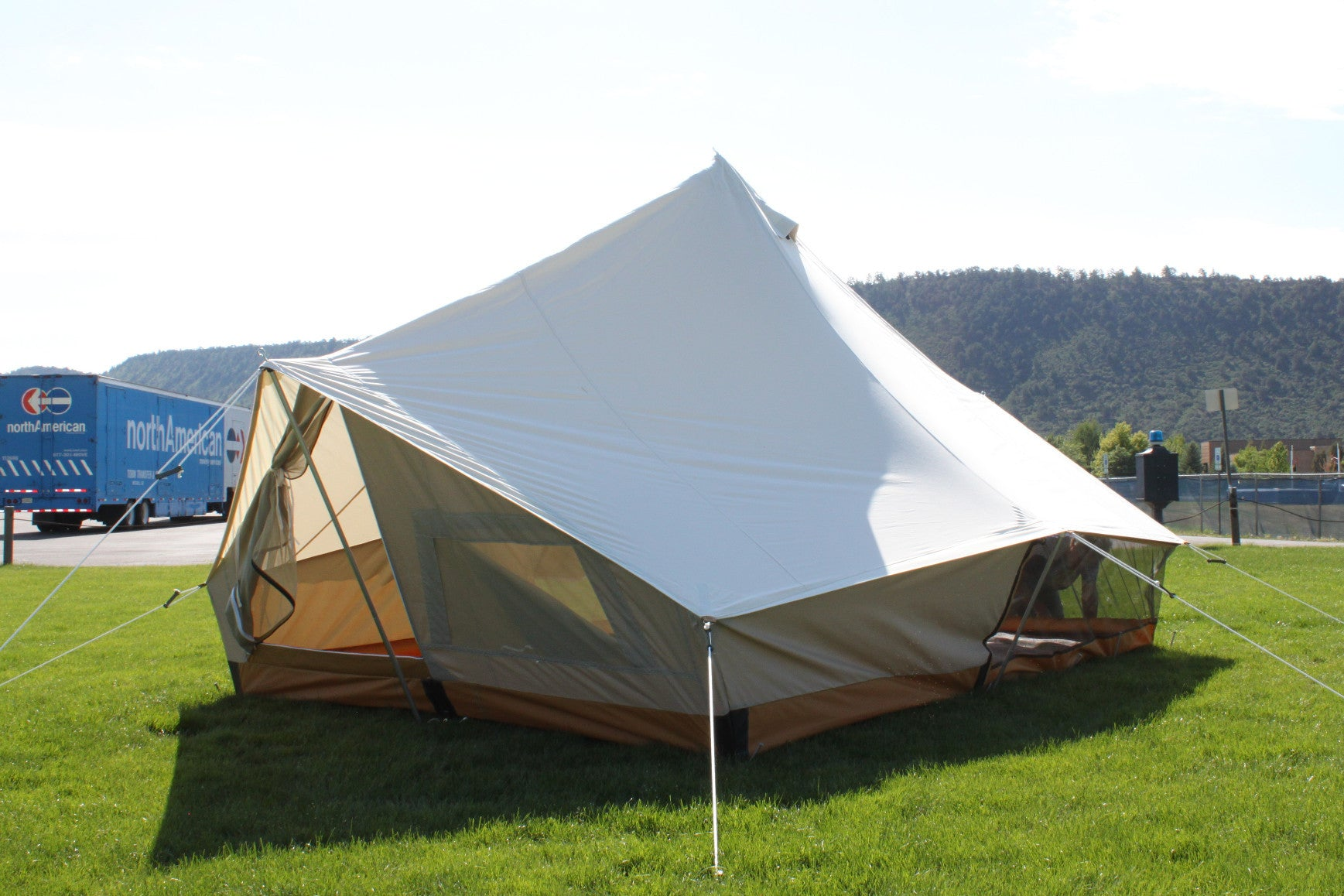 Split Torrent Tent with Screened Porch Enclosure & Split Torrent Tent with Screened Porch Enclosure - Ellis Canvas Tents