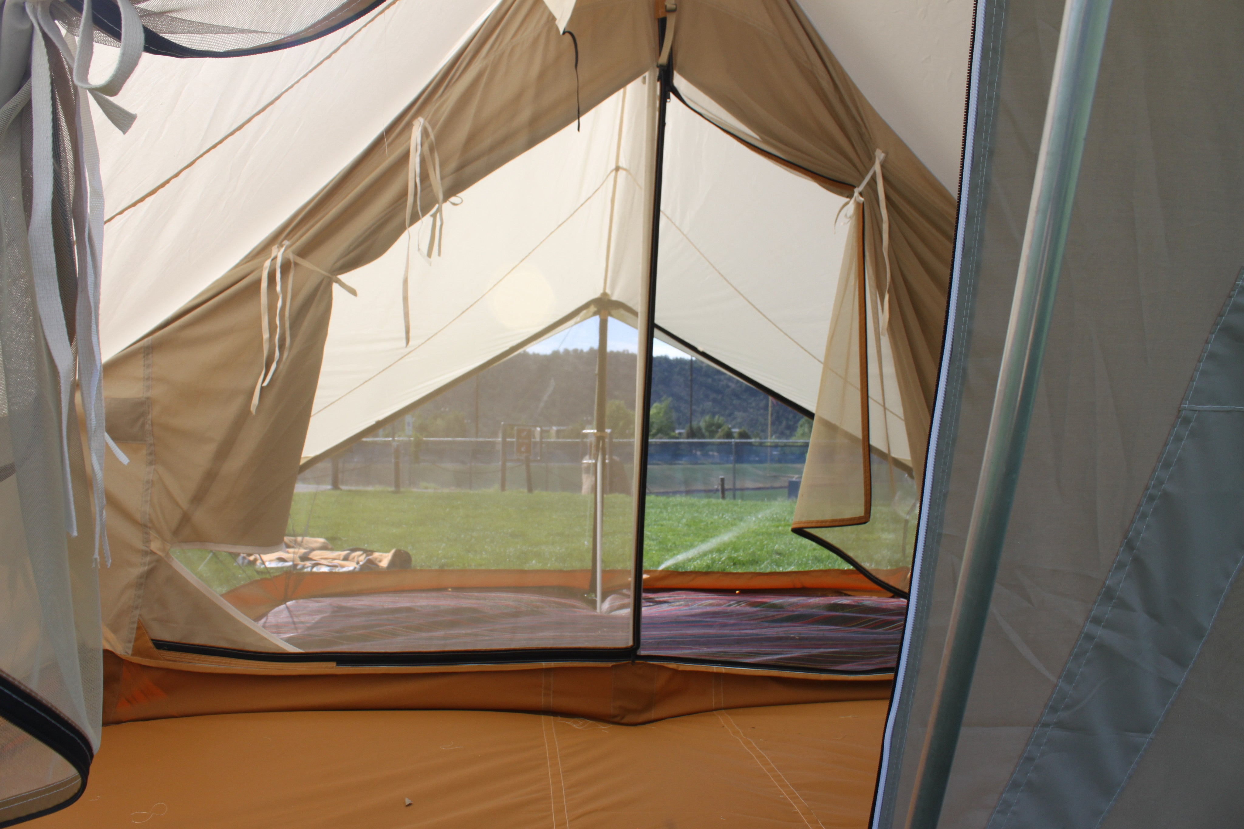 Split Torrent Tent With Screened Porch Enclosure