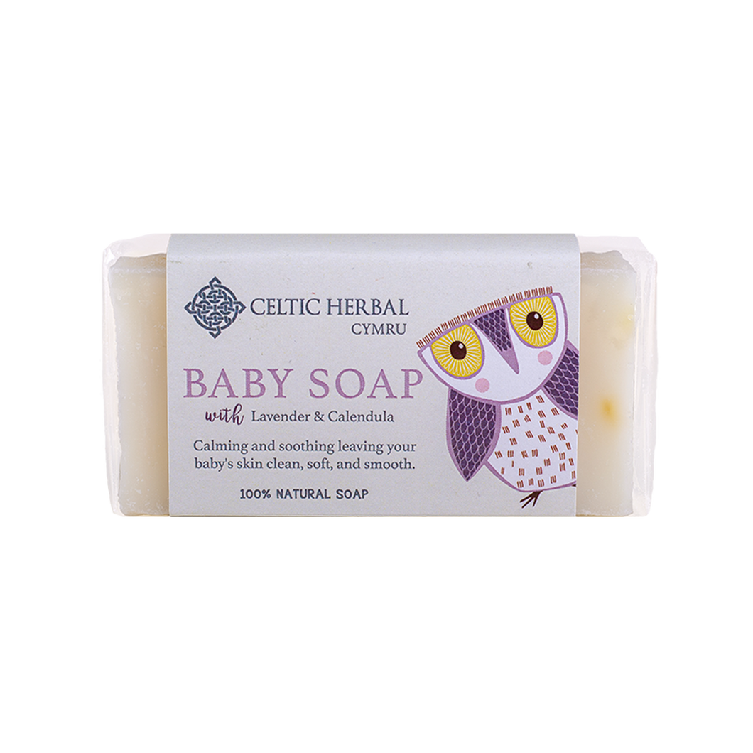 Celtic Herbal - Baby Soap with Lavender & Calendula - Lavender & Calendula essential oils are anti inflammatory, antibacterial, antiseptic