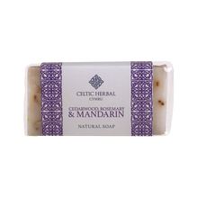 Load image into Gallery viewer, Celtic Herbal - Cedarwood, Rosemary & Mandarin Soap 100g