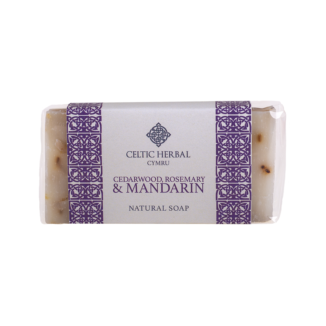Celtic Herbal - Cedarwood, Rosemary & Mandarin Soap 100g
