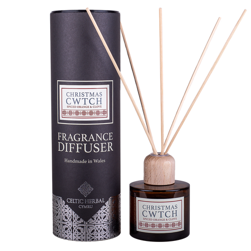 Celtic Herbal - Christmas Cwtch Reed Diffuser with Spiced Orange and Clove 100ml