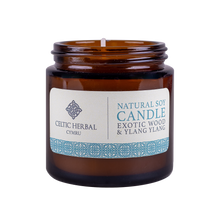 Load image into Gallery viewer, Celtic Herbal - Exotic Wood and Ylang Ylang Natural Soy Candle 100g