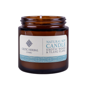 Celtic Herbal - Exotic Wood and Ylang Ylang Natural Soy Candle 100g
