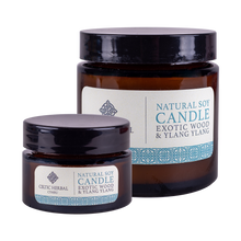 Load image into Gallery viewer, Celtic Herbal - Exotic Wood and Ylang Ylang Natural Soy Candles