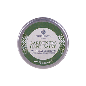 Celtic Herbal - Gardeners Hand Salve with Sea Buckthorn, Rosemary & Black Pepper 25g