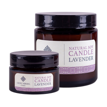 Load image into Gallery viewer, Celtic Herbal - Lavender Natural Soy Candles