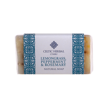 Load image into Gallery viewer, Celtic Herbal - Lemongrass, Peppermint & Rosemary Soap 100g
