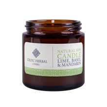 Load image into Gallery viewer, Celtic Herbal - Mandarin, Lime & Basil Natural Soy Candle 100g