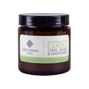 Celtic Herbal - Mandarin, Lime & Basil Natural Soy Candle 100g