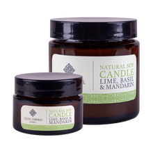 Load image into Gallery viewer, Celtic Herbal - Mandarin, Lime & Basil Natural Soy Candles