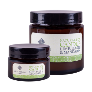 Celtic Herbal - Mandarin, Lime & Basil Natural Soy Candles