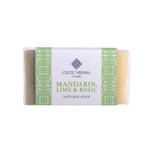 Load image into Gallery viewer, Celtic Herbal - Mandarin, Lime & Basil Soap 100g