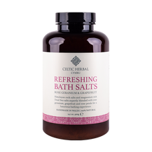 Load image into Gallery viewer, Celtic Herbal - Refreshing Bath Salts with Rose Geranium & Grapefruit 400g