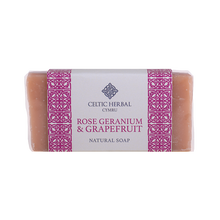 Load image into Gallery viewer, Celtic Herbal - Rose Geranium & Grapefruit Soap 100g
