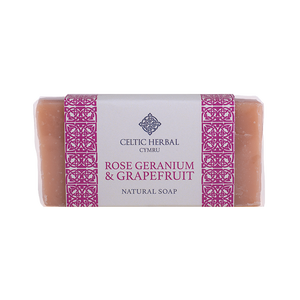 Celtic Herbal - Rose Geranium & Grapefruit Soap 100g