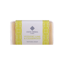 Load image into Gallery viewer, Celtic Herbal - Vetivert, Lime & Cedarwood Soap 100g