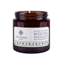 Load image into Gallery viewer, Celtic Herbal - Winter Woodland Candle with Pine & Frankincense 100g