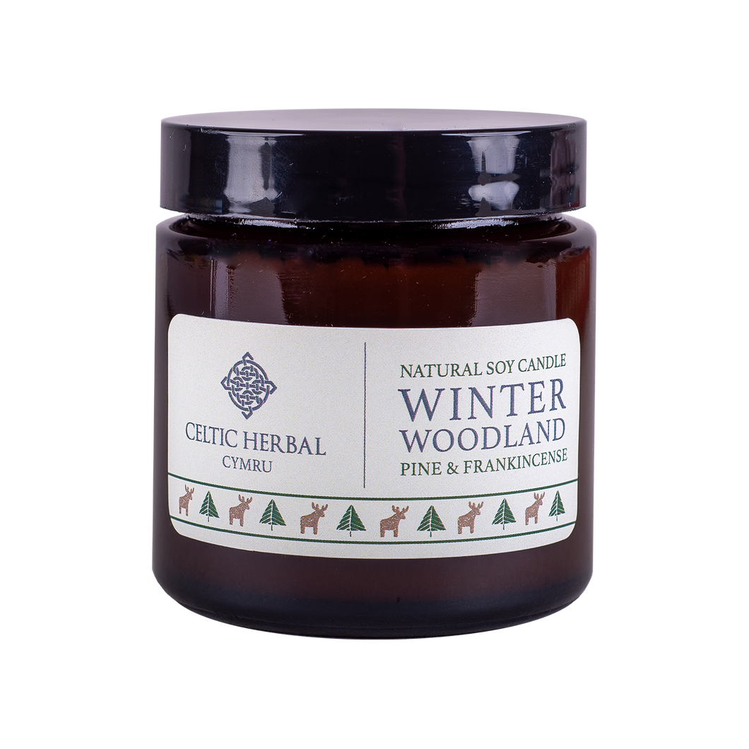 Celtic Herbal - Winter Woodland Candle with Pine & Frankincense 100g