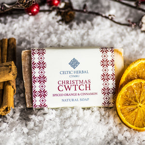 Christmas Cwtch Soap - Celtic Herbal Natural Handmade Soap