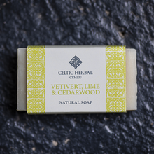 Load image into Gallery viewer, Vertivert, Lime & Cedarwood Soap - Celtic Herbal Natural Handmade Soap