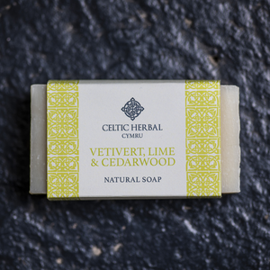 Vertivert, Lime & Cedarwood Soap - Celtic Herbal Natural Handmade Soap