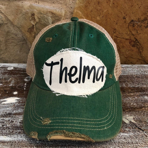 Thelma Hat, Friend Hat, Baseball Hat, Women's Hat, Ball Cap, Distressed Hat, Weathered Hat