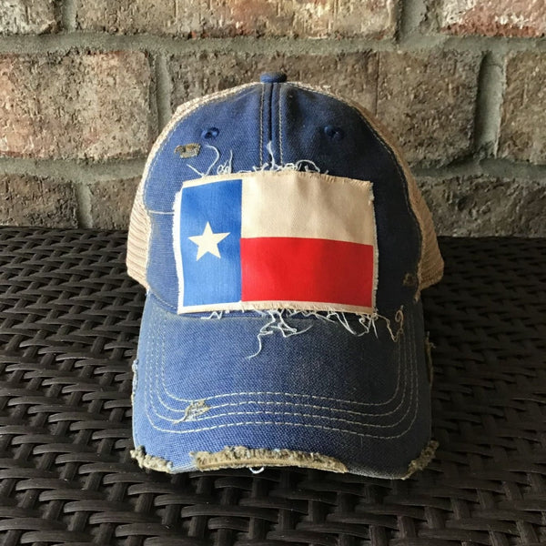 Texas Flag Hat, Baseball Hat, Women's Hat, Ball Cap, Distressed Hat, Weathered Hat