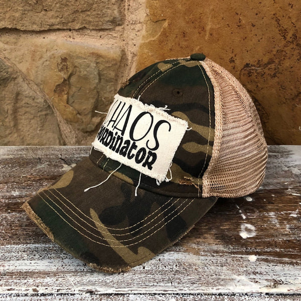 Chaos Coordinator Hat, Funny Hat, Baseball Hat, Women's Hat, Ball Cap, Distressed Hat, Weathered Hat