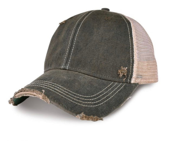 River Life Hat, Ball Cap, Swim Hat, Distressed Hat, Weathered Hat