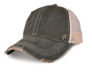 Lake Life Hat, Lake Ball Cap, Distressed Hat, Weathered Hat
