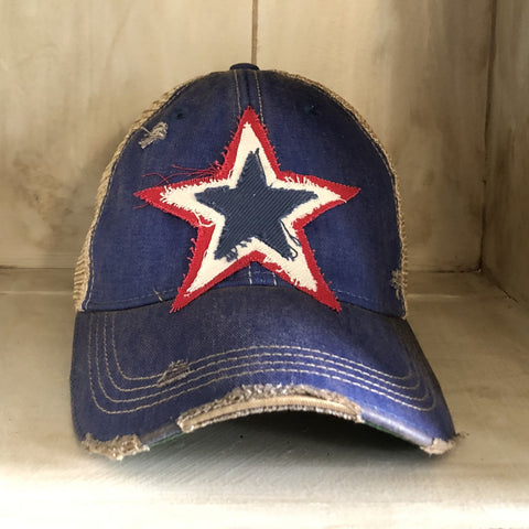 Star Hat, Red, White and Blue Hat