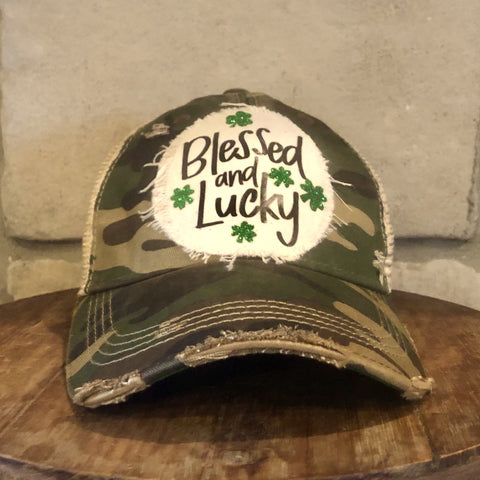 Blessed and Lucky Hat, St. Patrick's Day Hat
