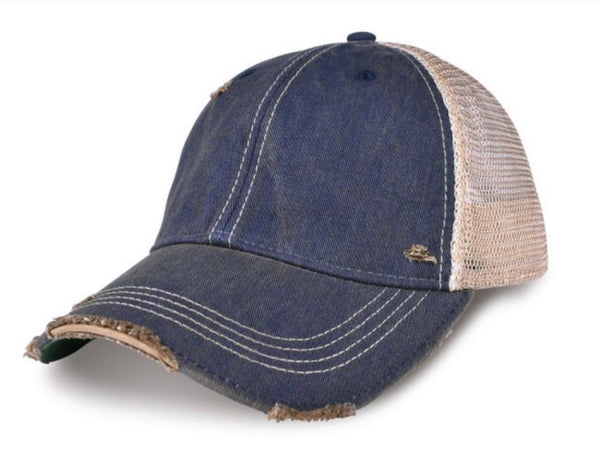 Pool Bum, Ball Cap, Distressed Hat, Weathered Hat