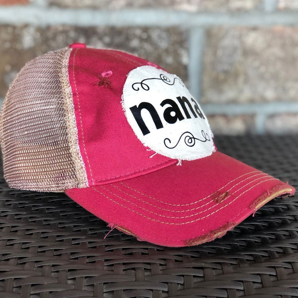 Nana Hat, Baseball Hat, Women's Hat, Ball Cap, Distressed Hat, Weathered Hat
