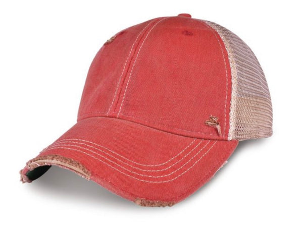 River Pirate, Ball Cap, Distressed Hat, Weathered Hat