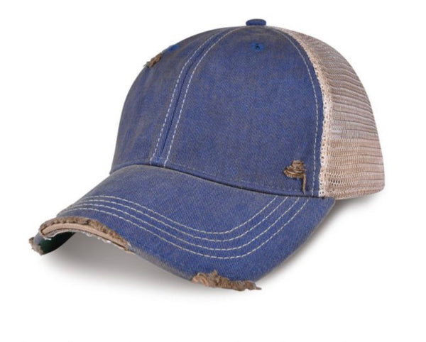 Oklahoma Hat, Ball Cap, Distressed Hat, Weathered Hat