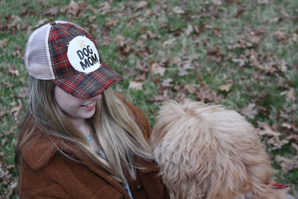 Dog Mom Hat, Dog Hat,  Baseball Hat, Women's Hat, Ball Cap, Distressed Hat, Weathered Hat
