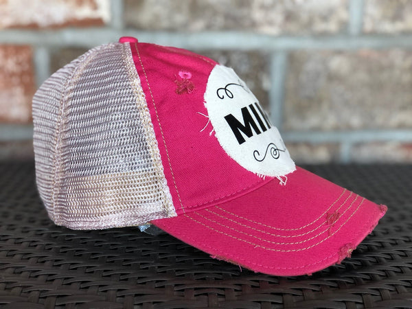 MiMi Hat, Baseball Hat, Women's Hat, Ball Cap, Distressed Hat, Weathered Hat
