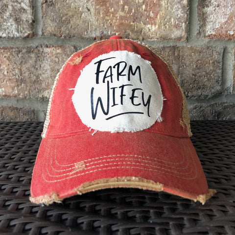Farm Wifey Hat, Farm Hat