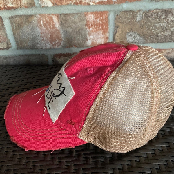 Vacay Mode, Cruise Hat, Vacation Cap, Ball Cap, Distressed Hat, Weathered Hat