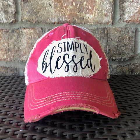 Simply Blessed Hat, Christian Hat