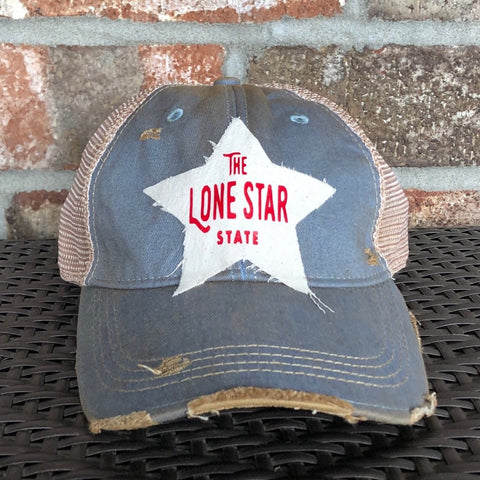 Lone Star State Hat, Texas Hat, Ball Cap, Distressed Hat, Weathered Hat