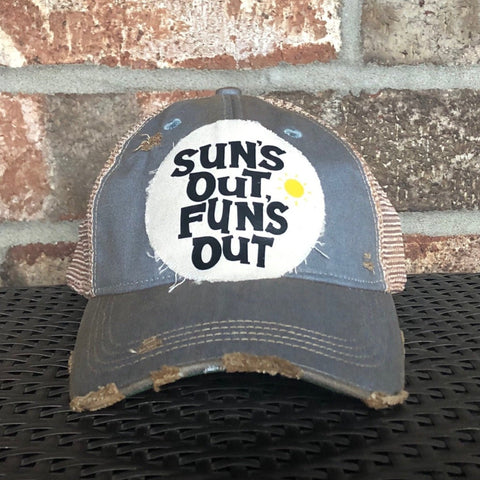 Suns Out Fun's Out, Weathered Hat, Summer Hat