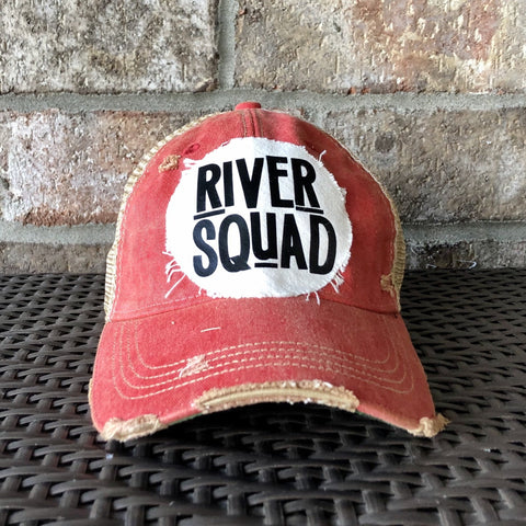 River Squad, Ball Cap, Distressed Hat, Weathered Hat