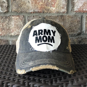 Army Mom  Hat, Army Hat, Military Hat, Armed Forces Hat, Ball Cap, Distressed Hat, Weathered Hat