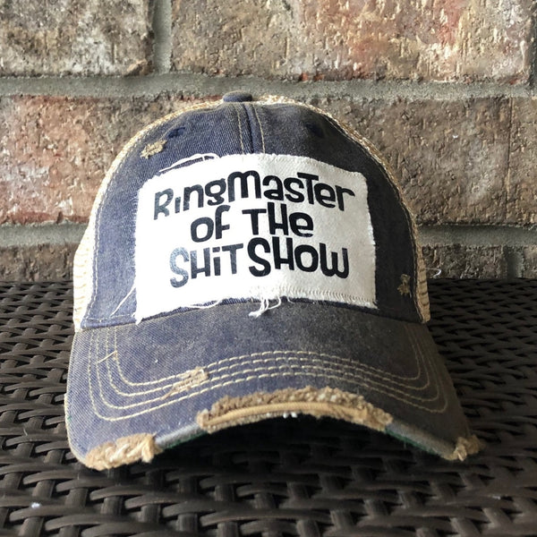 Ringmaster of the Shit Show Hat, Unisex Hat, Unisex Cap, Baseball Hat, Men's Hat, Women's Hat, Ball Cap, Distressed Hat, Weathered Hat