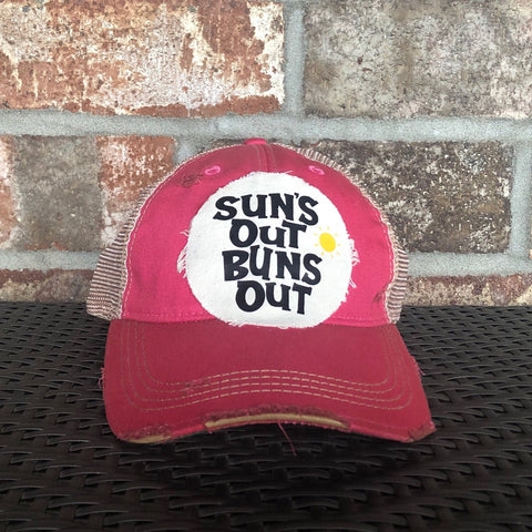 Sun's Out Buns Out, Weathered Hat, Summer Hat